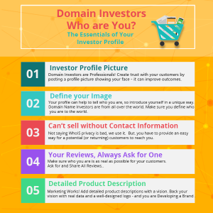 how to choose a domain name, domain marketplace profile