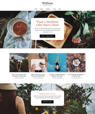 wellness site design